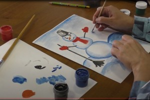 Мастер-класс «Рисуем снеговика»