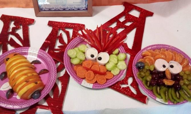 Живые овощи и фрукты