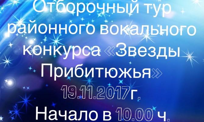 Отборочный тур районного вокального конкурса  «Звезды Прибитюжья»