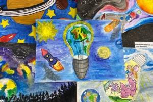 Завершился ежегодный районный конкурс детского рисунка «Наука + фантазия»
