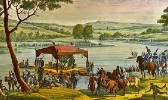 Русский царь против императора французов.